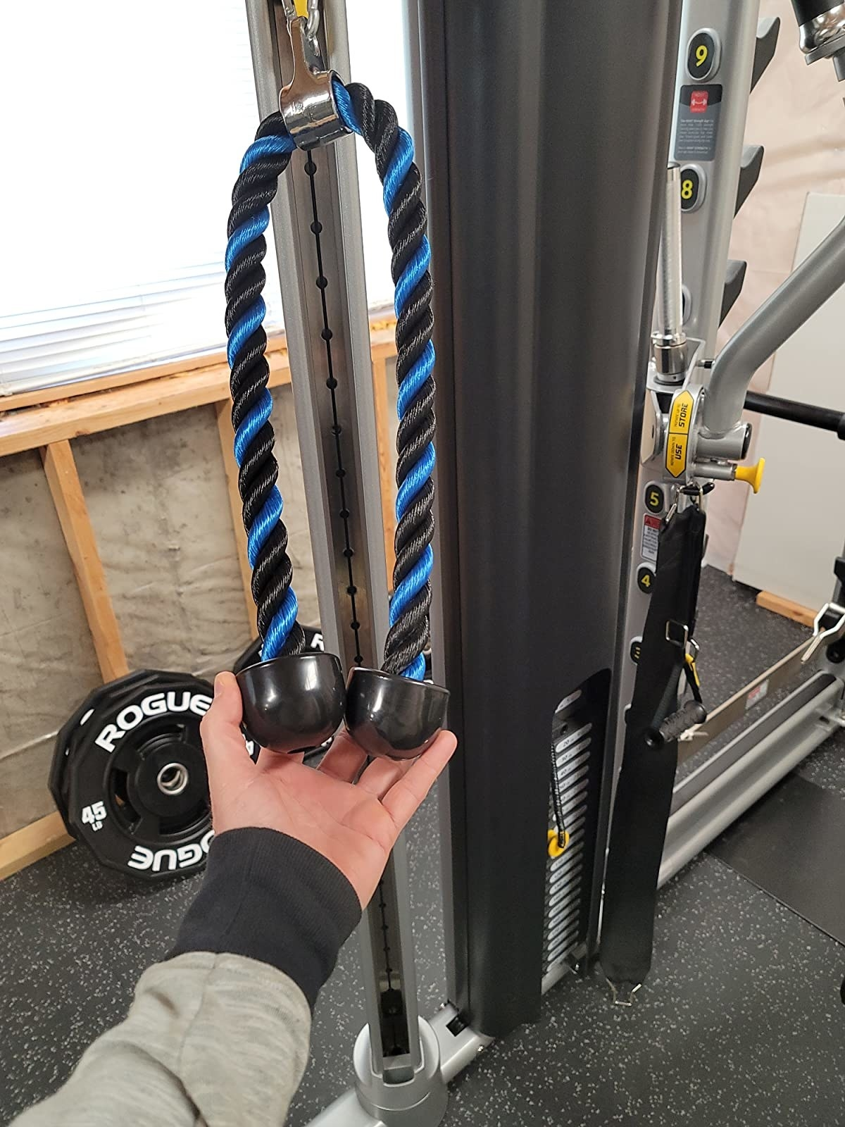 """The 36"""" rope in blue and black"""