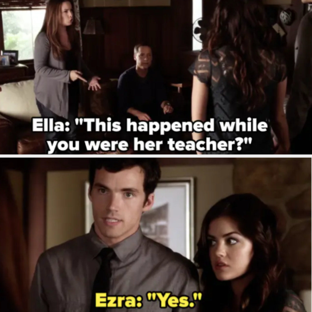 Aria and Ezra tell her parents they're dating