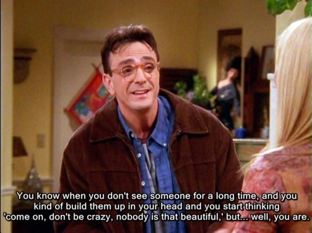 David pouring his heart out to Phoebe