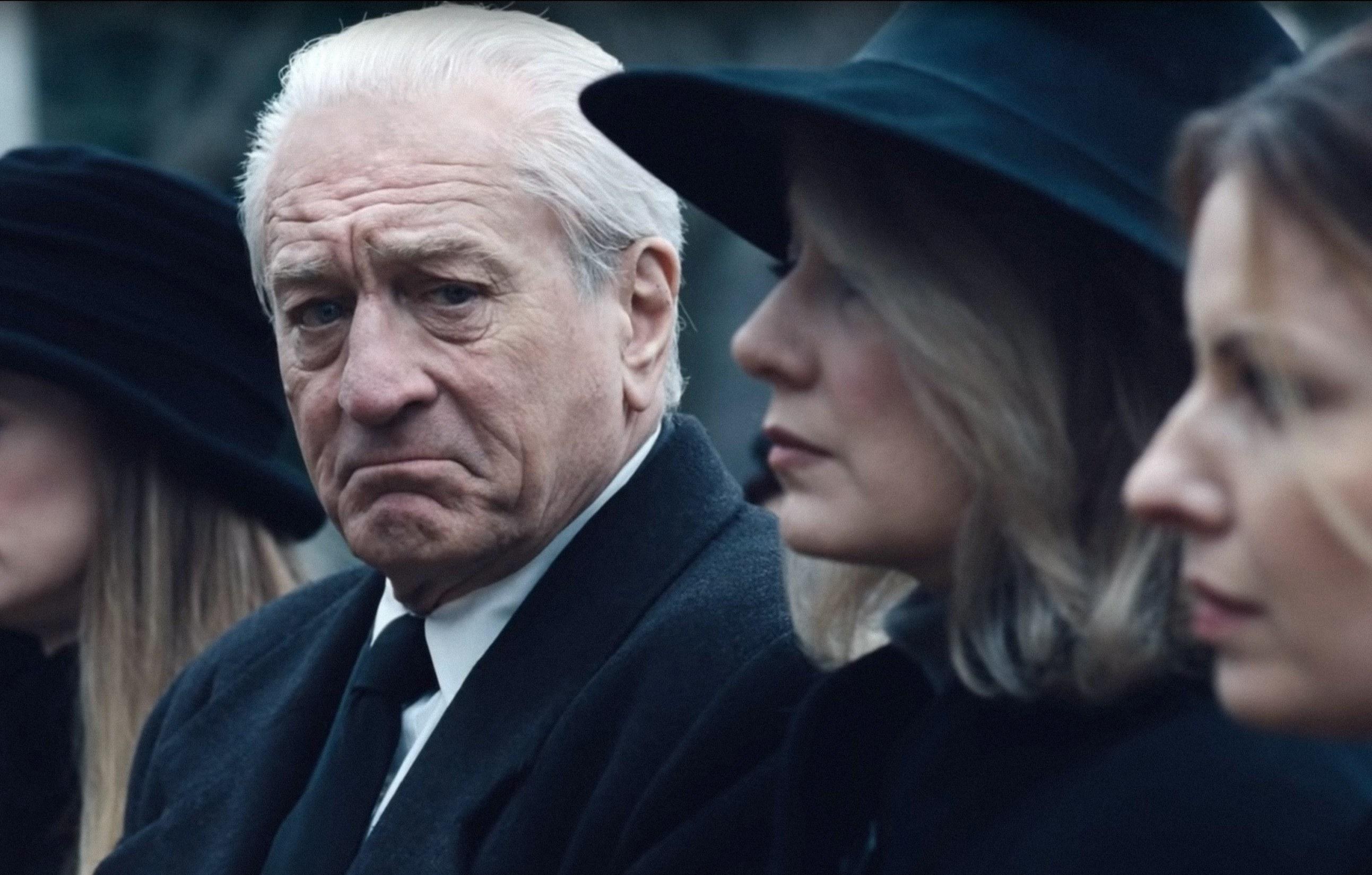 Robert De Niro at a funeral