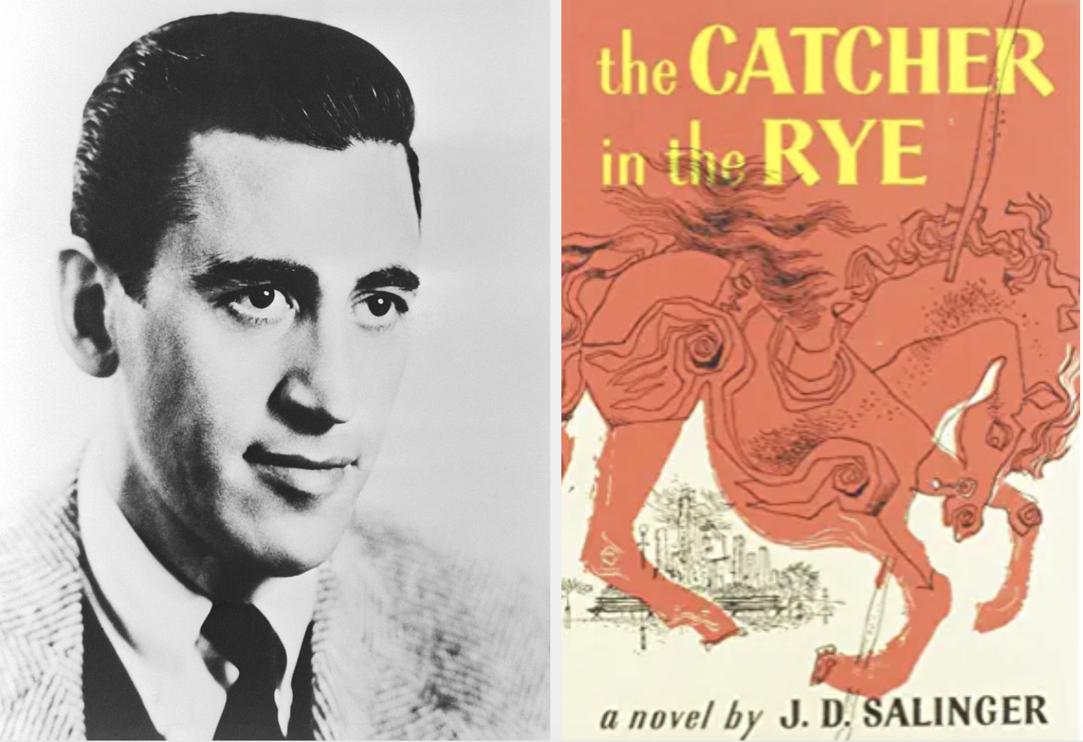 J.D. Salinger and the cover of the catcher in the rye