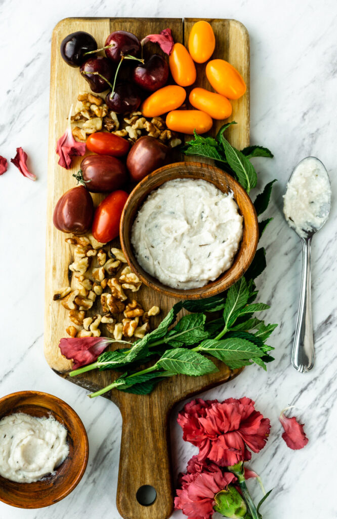 Whipped Vegan Feta Cheese with Maple & Thyme