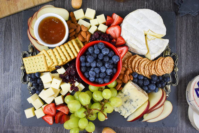 Red, White, and Blue Cheese Board