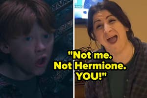 not me, not hermione, you