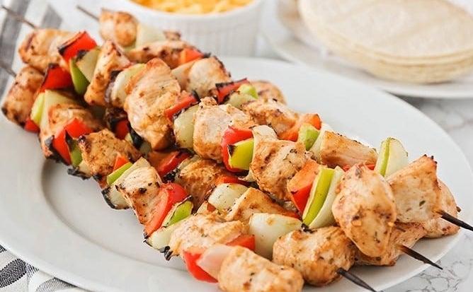 Fajita Grilled Chicken Skewers