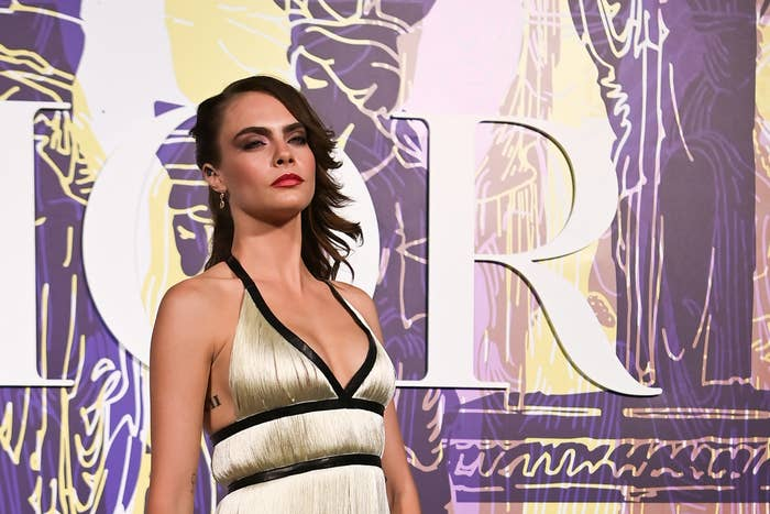 Cara Delevingne appears at the Dior Cruise fashion show
