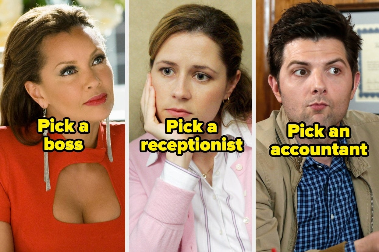 """Wilhelmina Slater from """"Ugly Betty,"""" Pam Beesly from """"The Office,"""" andBen Wyatt from """"Parks and Recreation"""""""