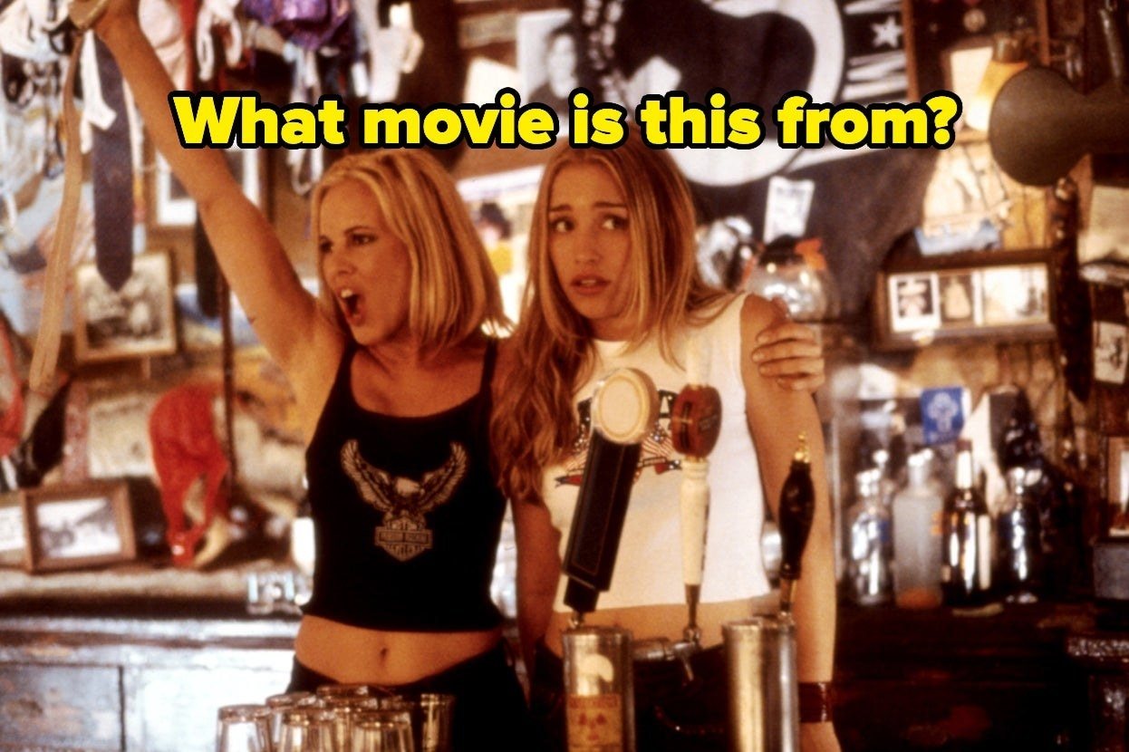 """""""Coyote Ugly"""" with the words """"What movie is this from?"""""""