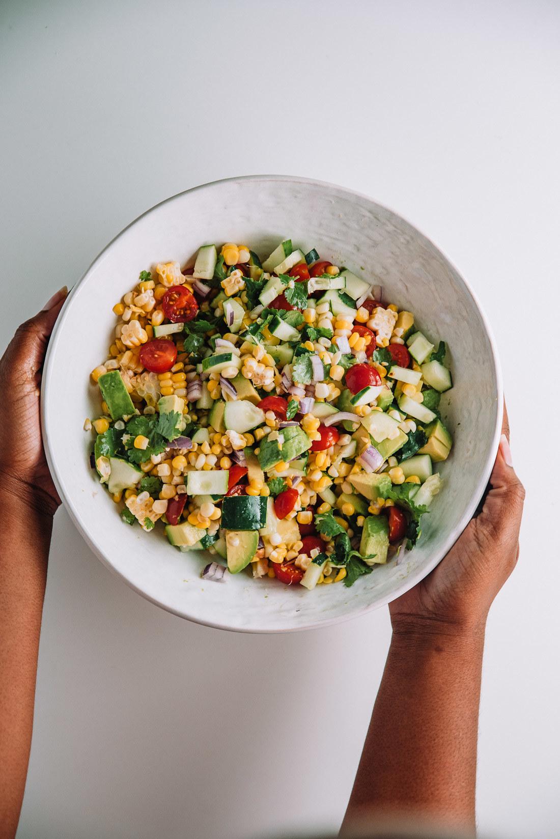 10 Ingredient Sweet Corn Salad