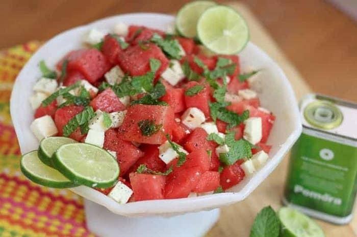 Mint Watermelon Salad with Feta