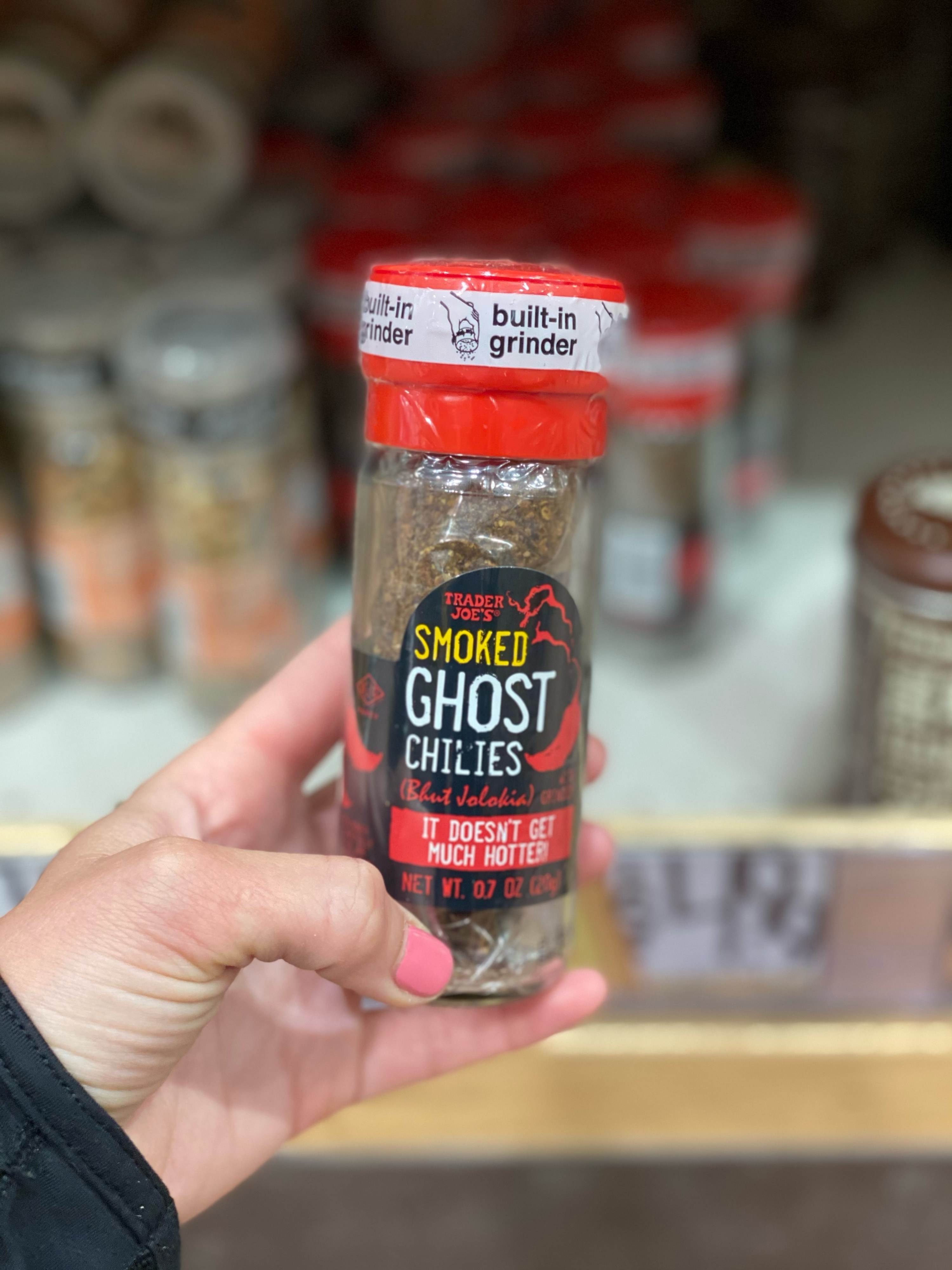 A grinder of ghost chile pepper.