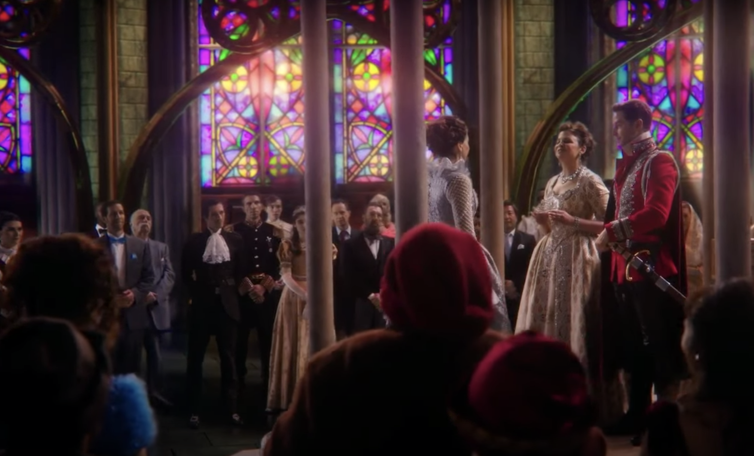 """Scene in a church from Once Upon a Time finale in which Regina is crowned """"the Good Queen"""""""