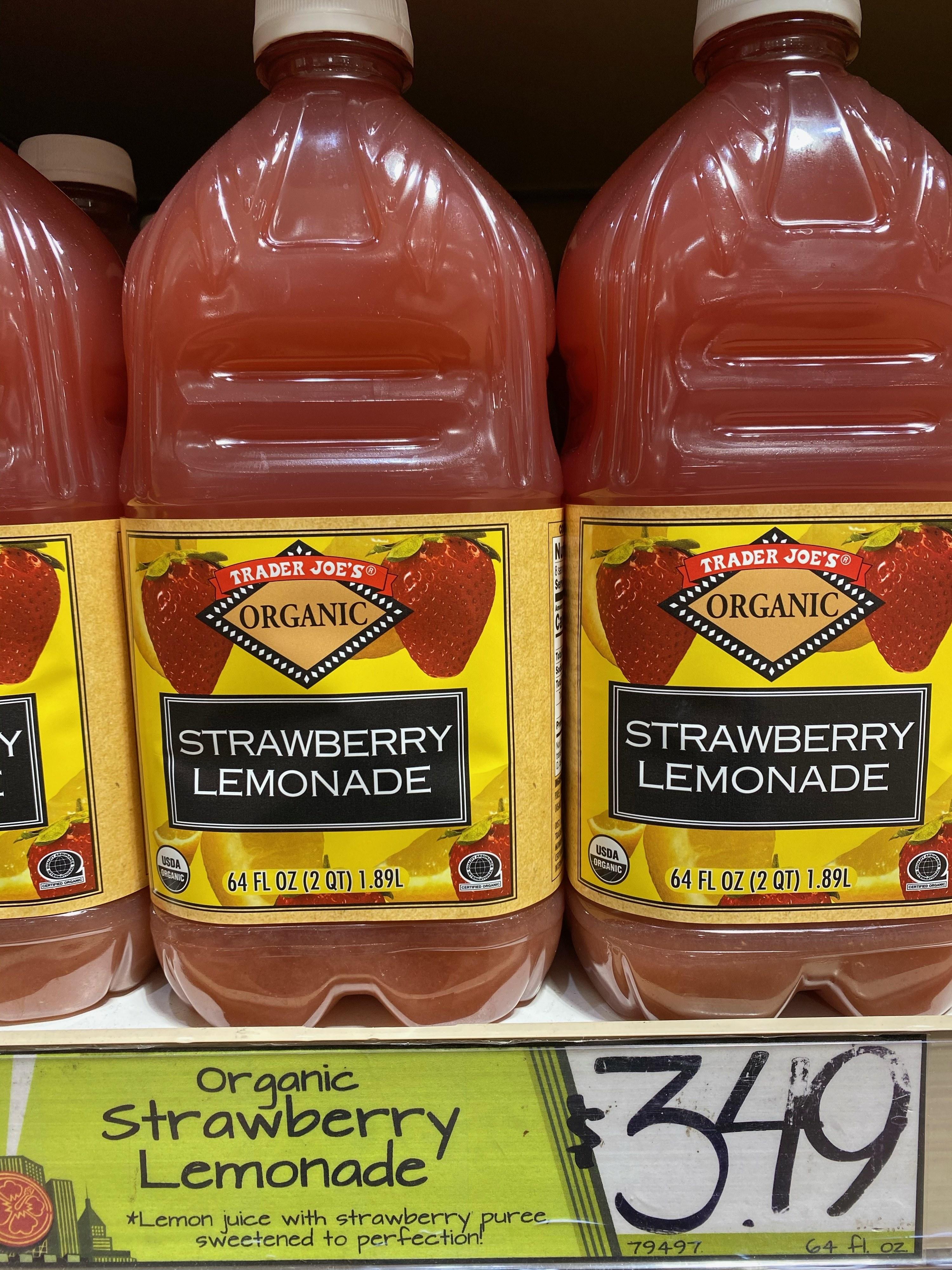 Trader Joe's strawberry lemonade.