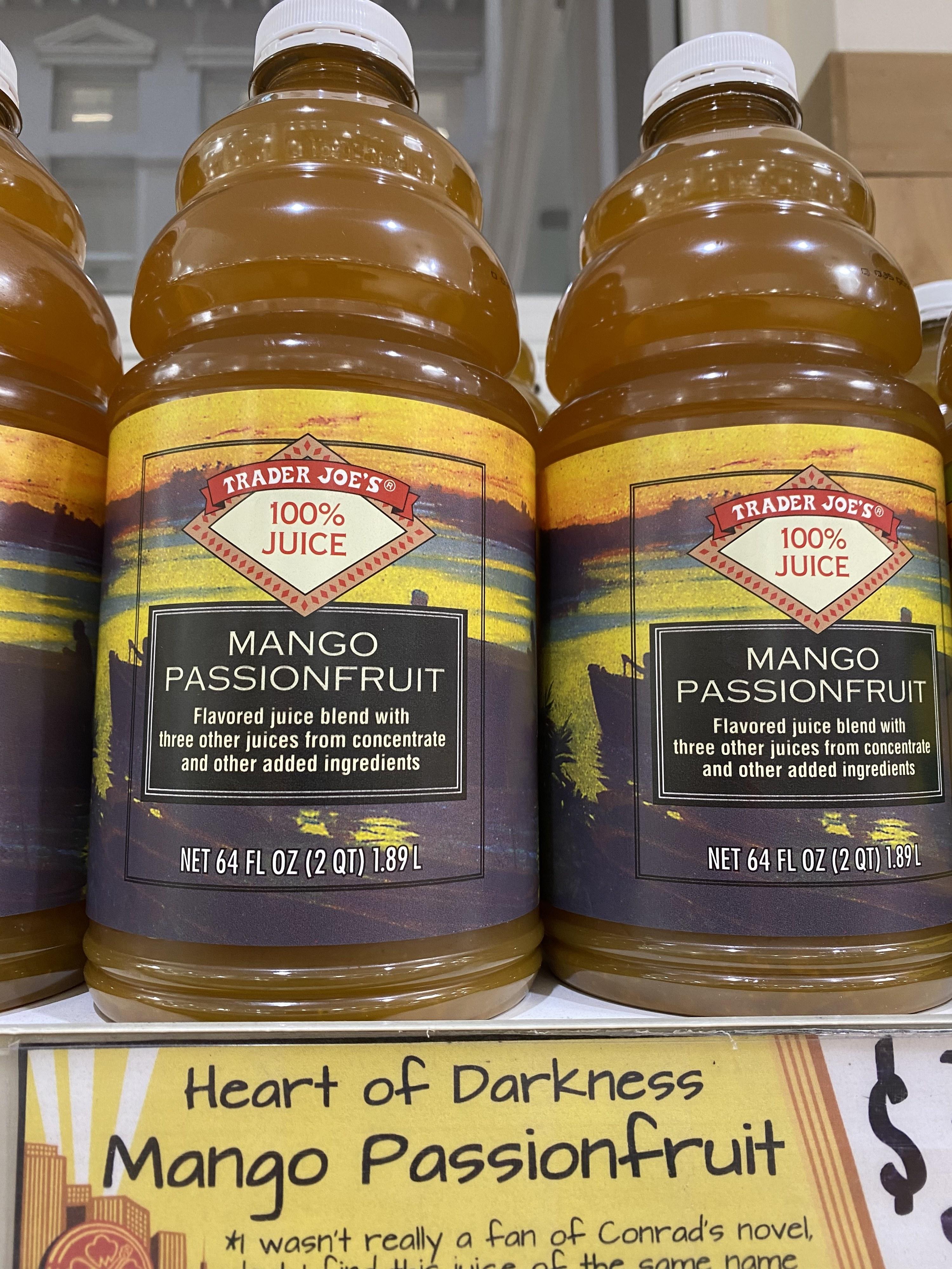 Mango passionfruit juice from Trader Joe's.