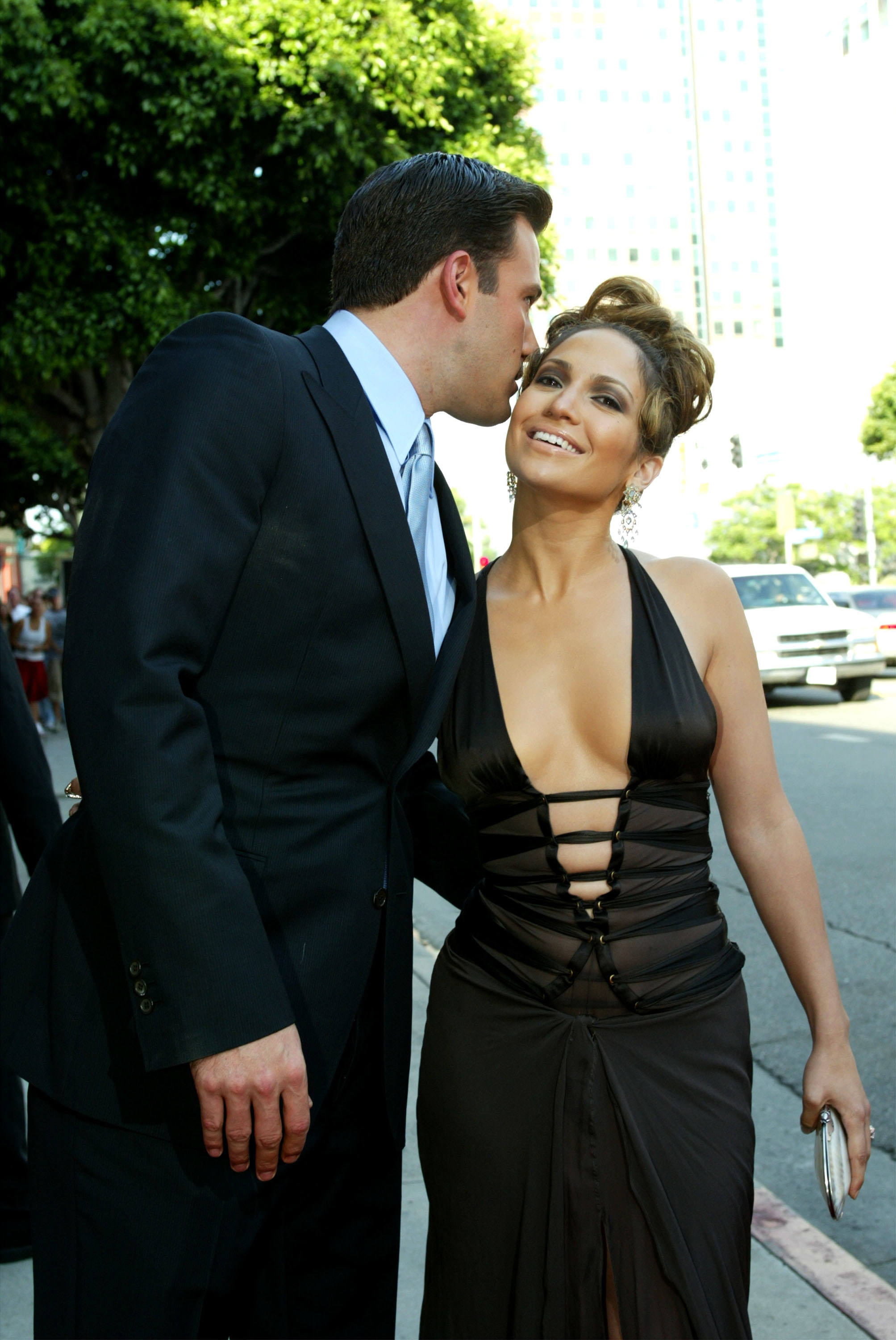 Ben Affleck and Jennifer Lopez at the Gigli premiere
