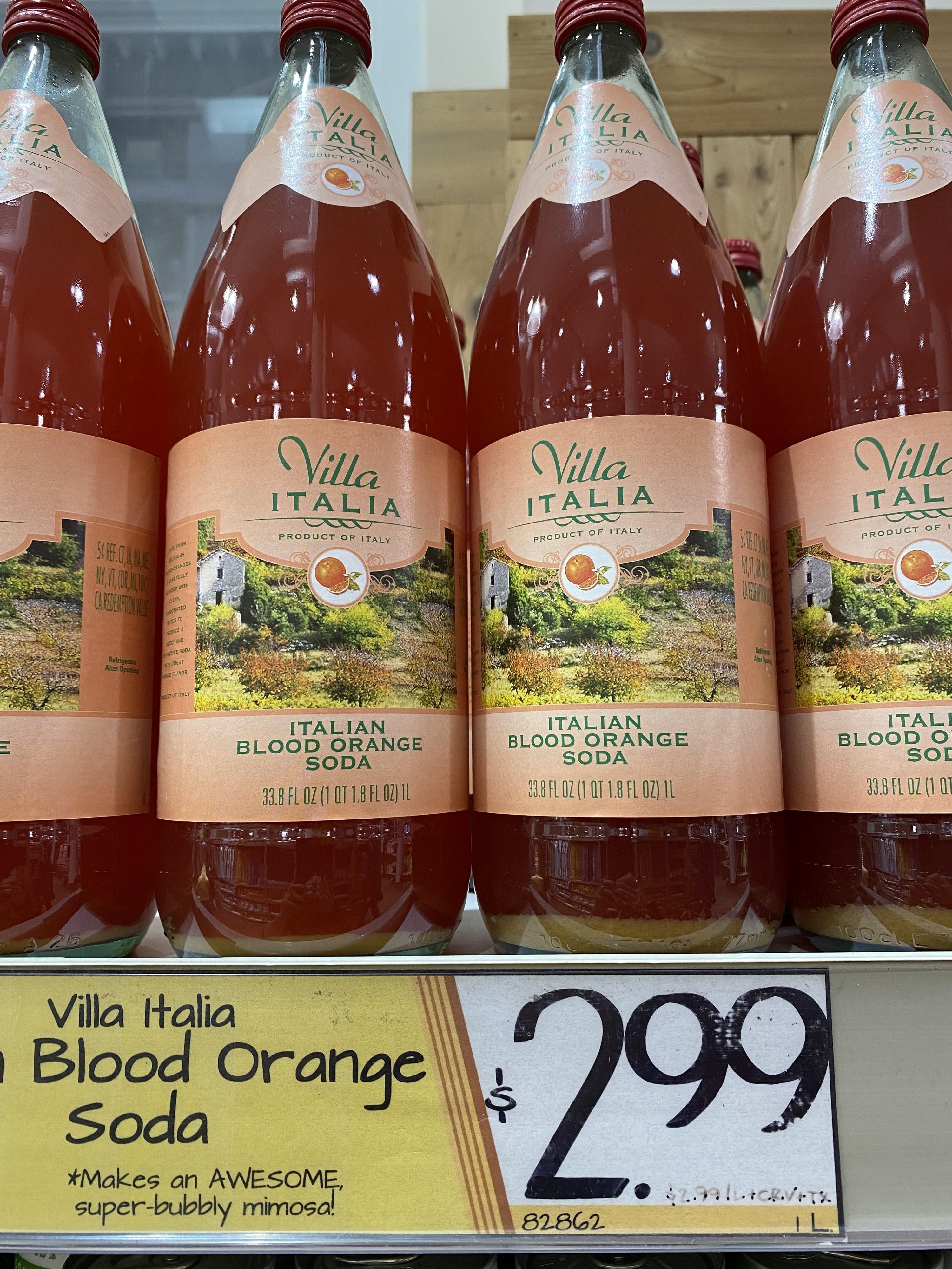 Villa Italia Italian Blood Orange Soda.