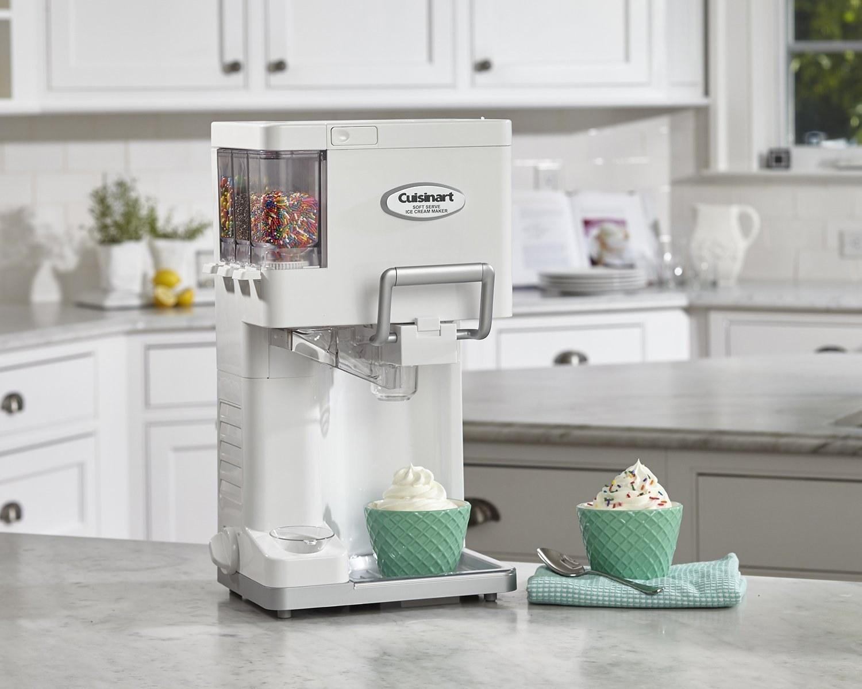 A soft serve ice cream maker