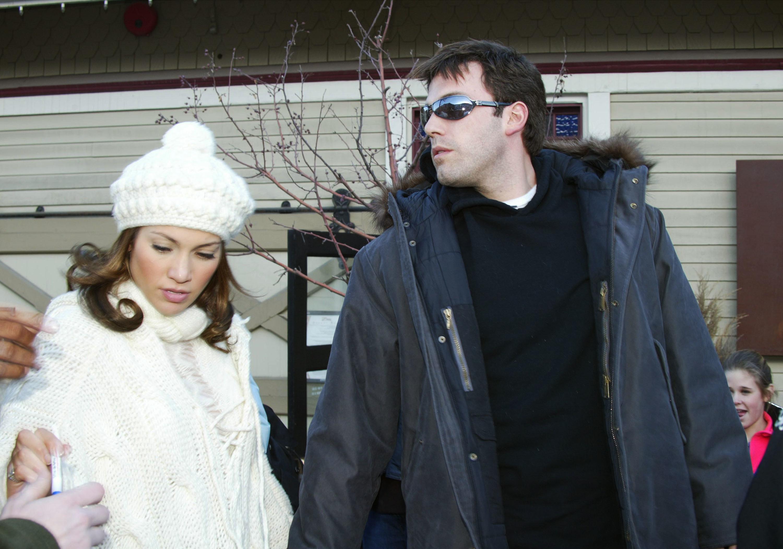Jennifer Lopez and Ben Affleck in Park City