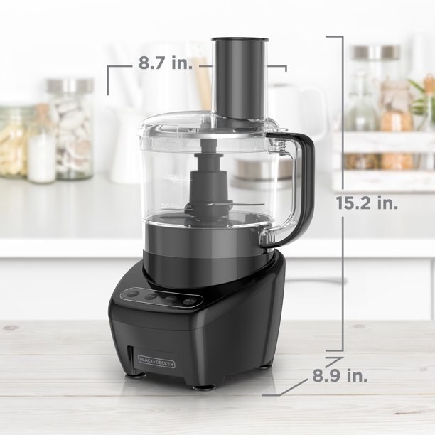 An eight-cup food processor