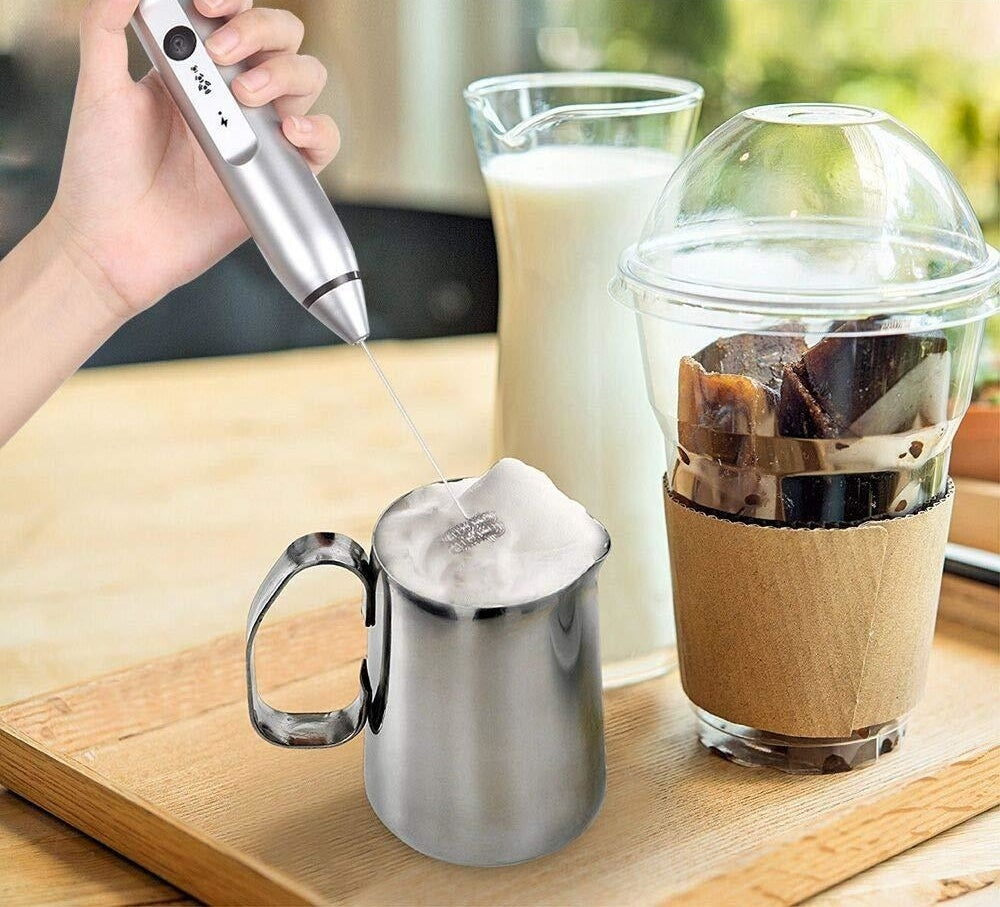 An electric milk frother