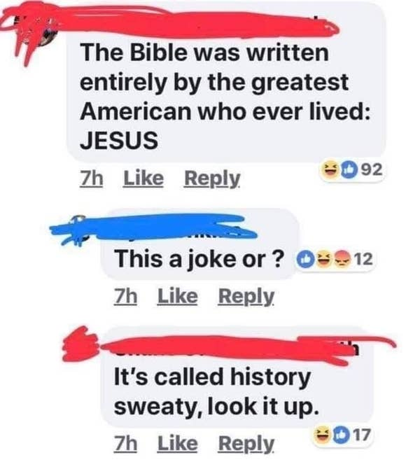 person who says Jesus is American