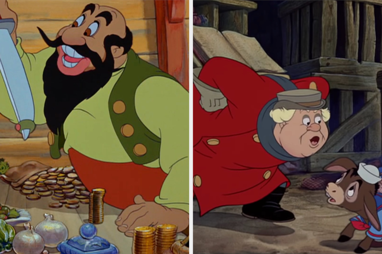 the two evil figures in Pinocchio