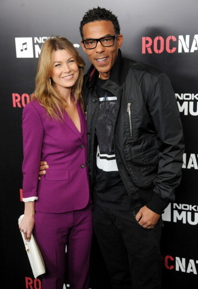 """Actor who played Dr. Meredith Grey on """"Grey's Anatomy"""" and music producer at a Roc Nation event red carpet"""