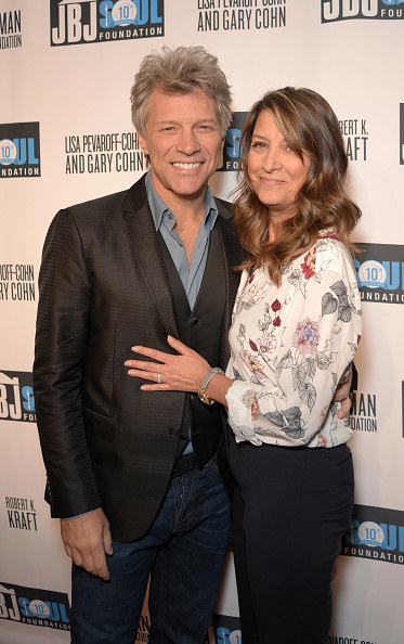 The Bon Jovi front man and the restaurateur on the red carpet