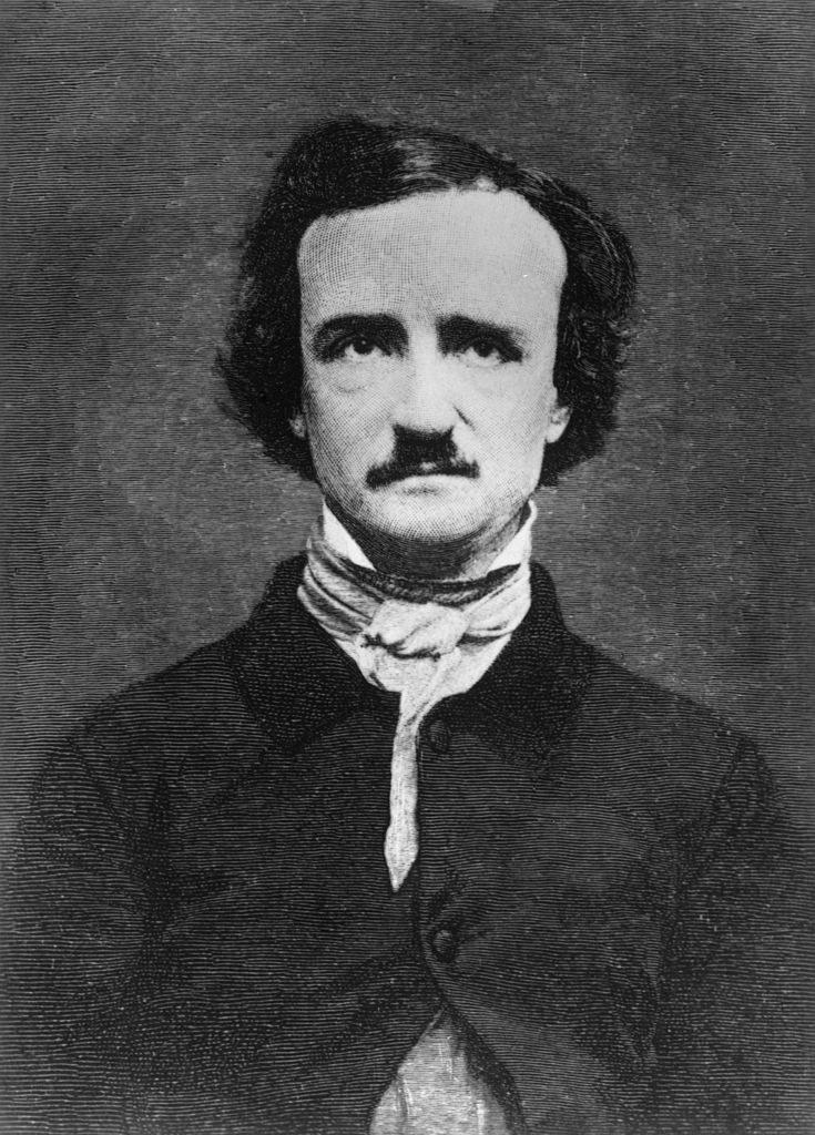 Edgar Allan Poe posing for a photo