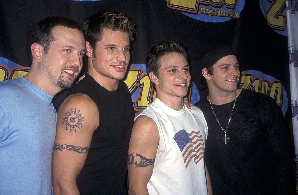 98 Degrees with matching tribal tats