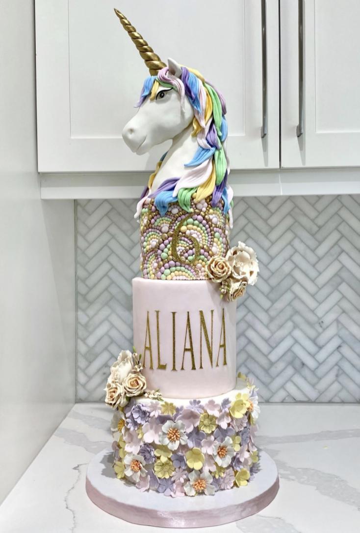 stunning fondant unicorn cake
