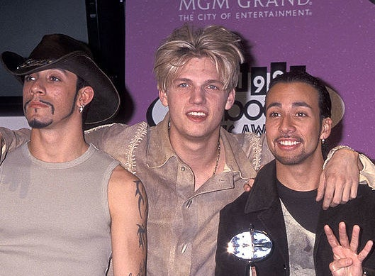 Nick Carter with messy hair