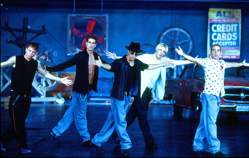 Backstreet Boys with their arms wide open