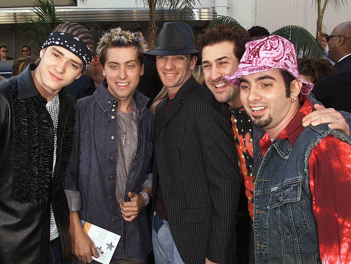NSYNC wearing various unmatching things