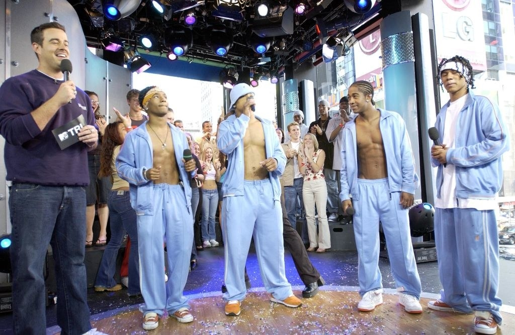 B2K in velour suits