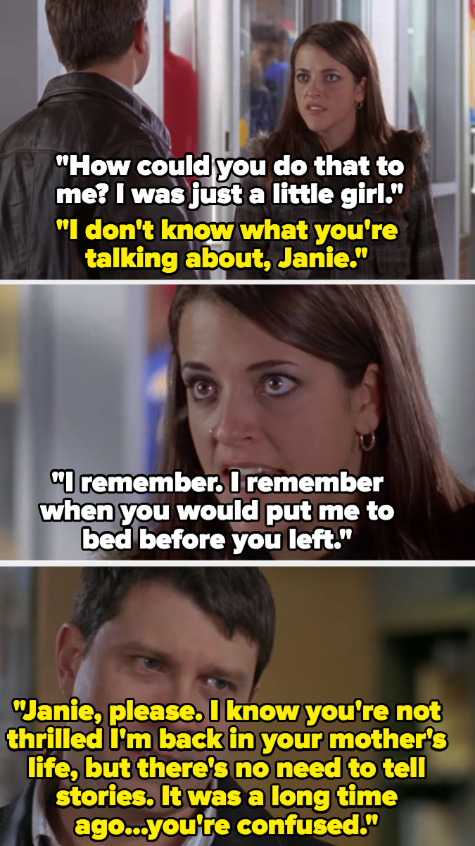 """Jane confronts her father for molesting her as a child and he says she's just """"confused"""""""