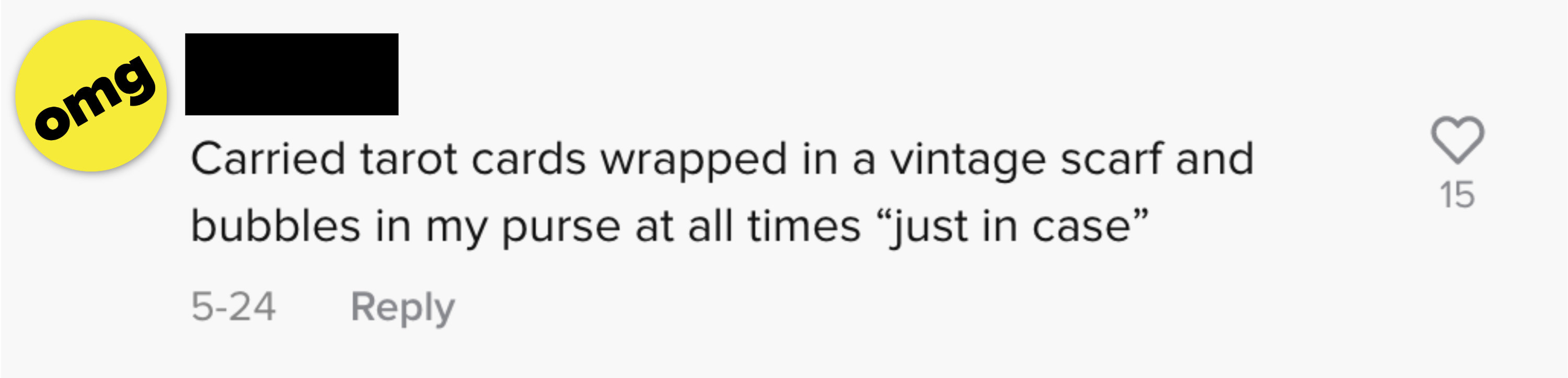 """Carried tarot cards wrapped in vintage a vintage scarf and bubbles in my purse """"just in case"""""""