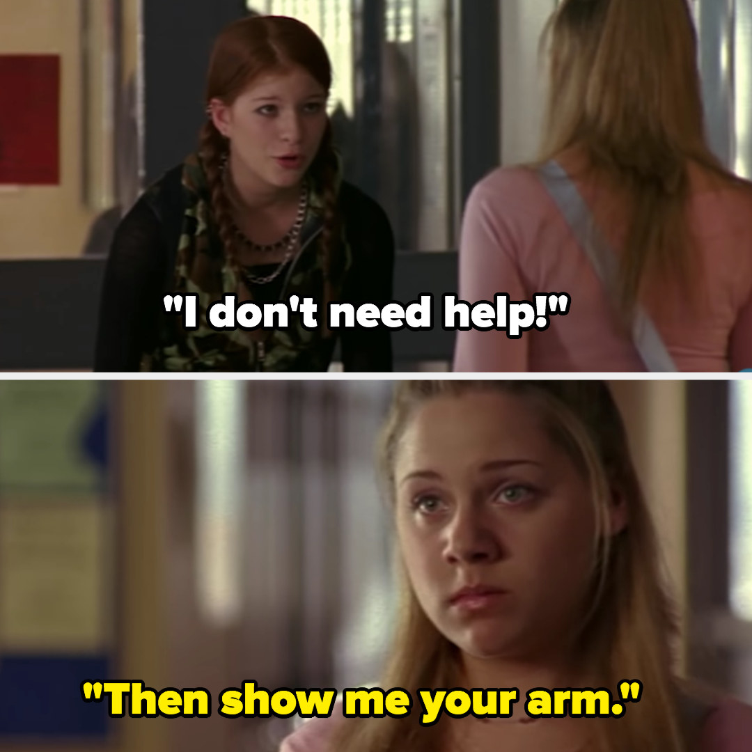 """Ellie: """"I don't need help,"""" Paige: """"Then show me your arm"""""""