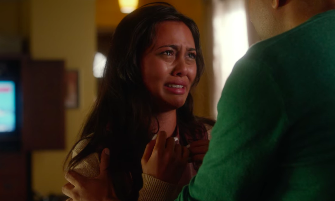 Goldi crying to her father