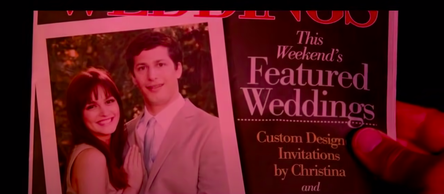 """Todd and Jamie in a wedding magazine in """"That's My Boy"""""""