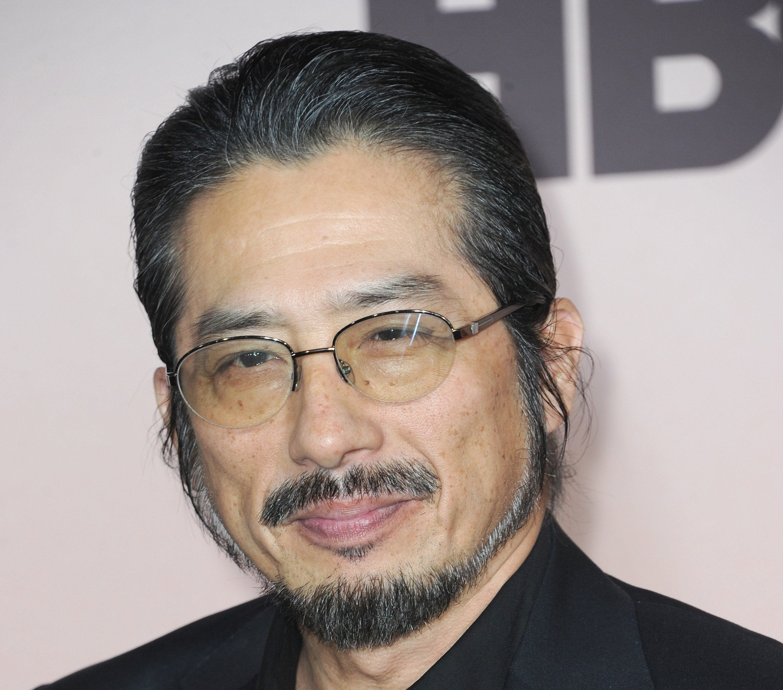 Hiroyuki Sanada smiles for the camera