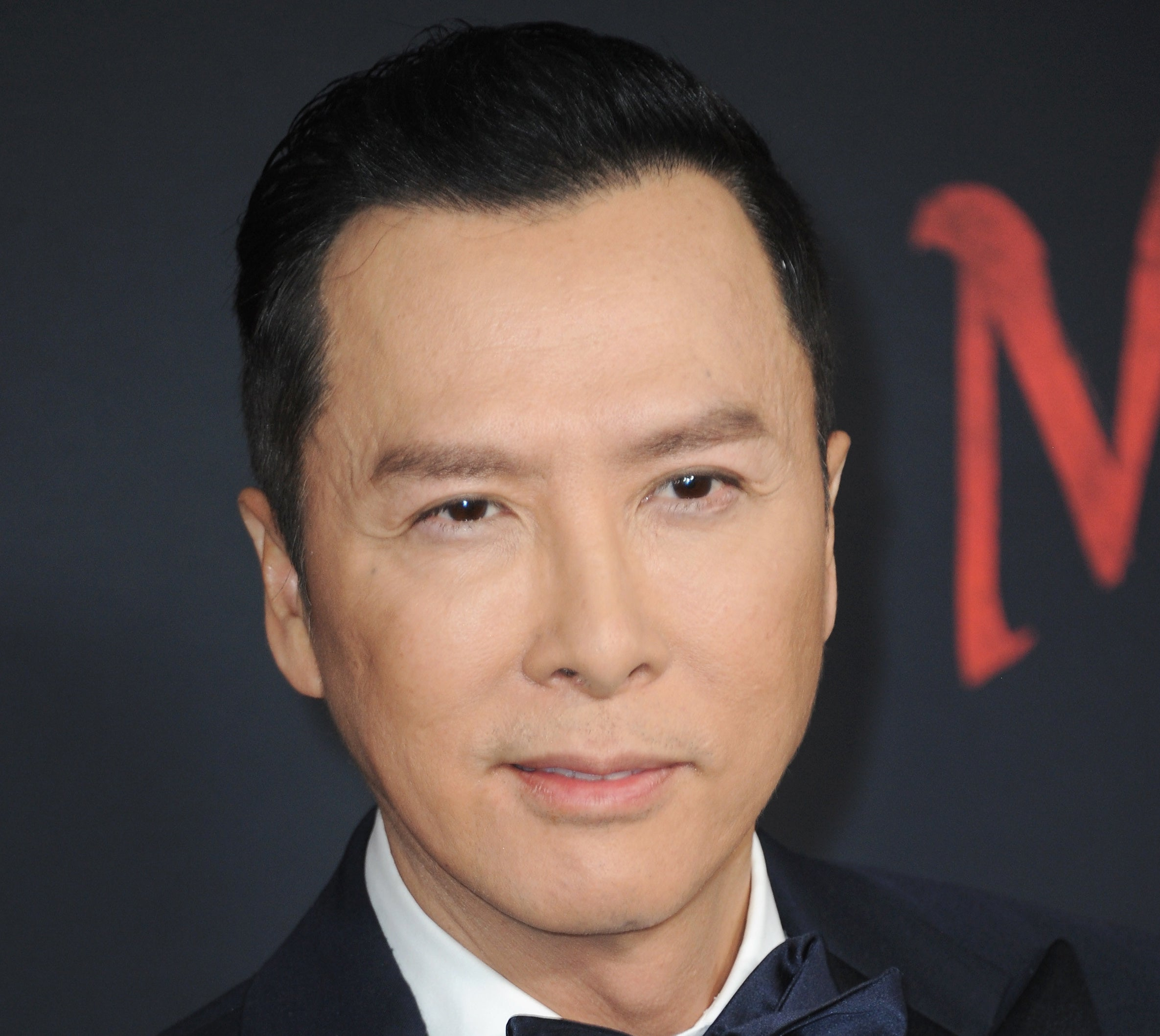 Donnie Yen looking quite serious