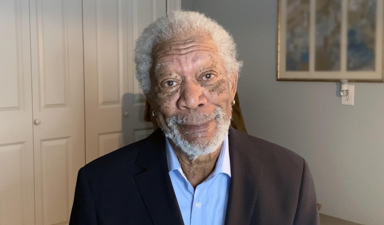 Morgan Freeman smiles for the camera