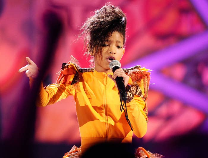 Willow performs at an event when she was very young