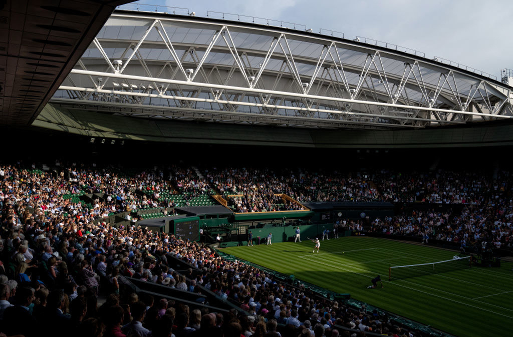 The centre court at Wimbledon.
