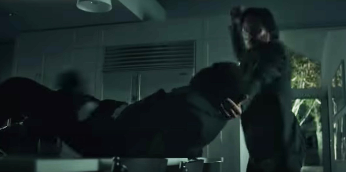 he lifted a guy up and flipped him over a table
