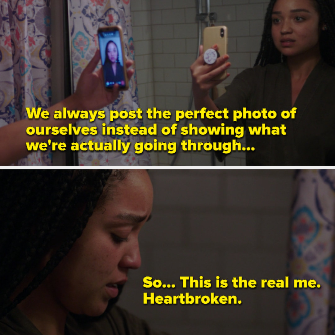 Kat posting a raw photo of herself