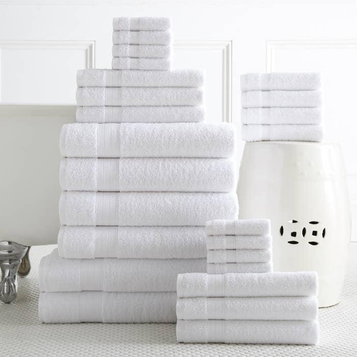 A 24-piece towel set