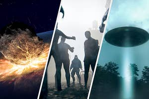 a giant meteorite, a zombie apocalypse, and a ufo invasion
