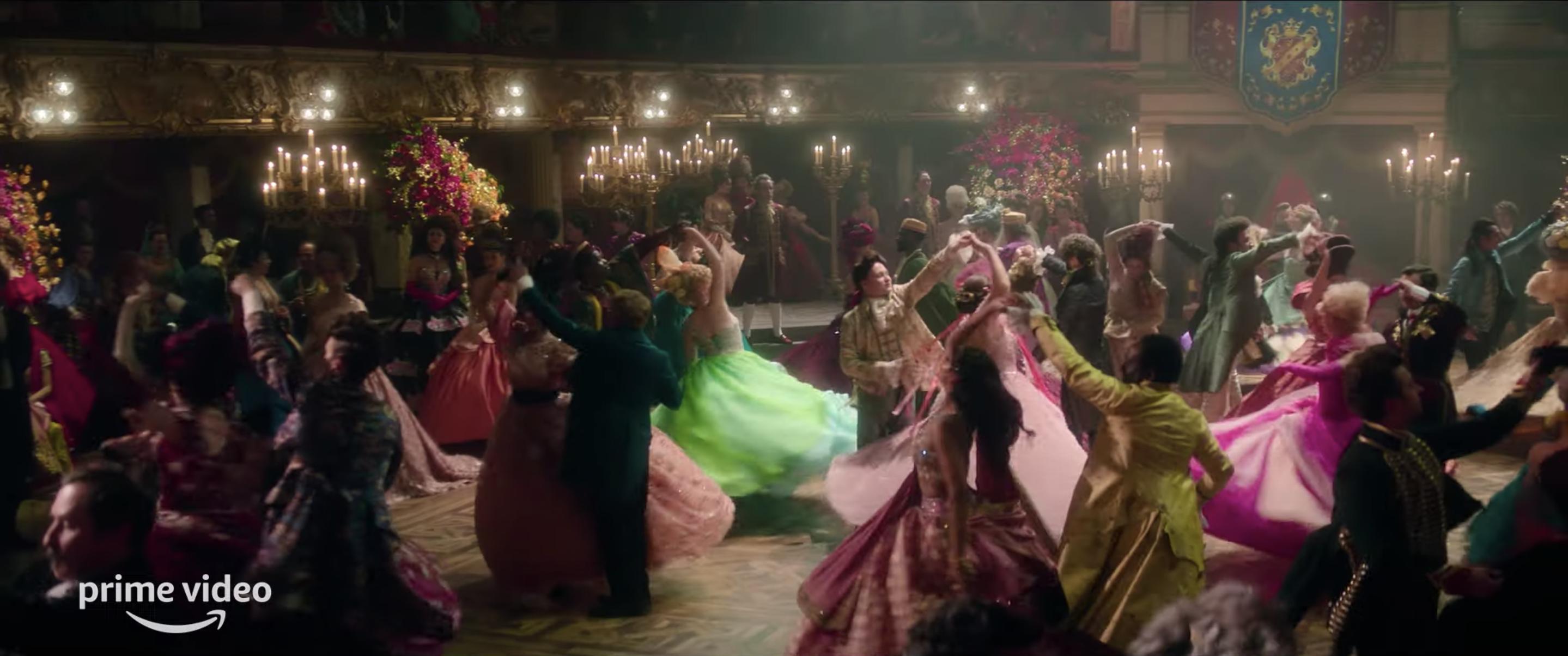 "A romantic ball scene on the set of Amazon Prime Video's ""Cinderella"""